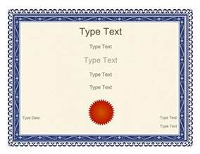 Certificates Templates Free by 52 Free Printable Certificate Template Exles In Pdf