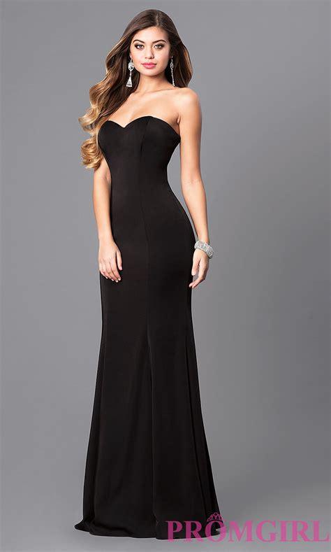 strapless satin mermaid prom dress promgirl