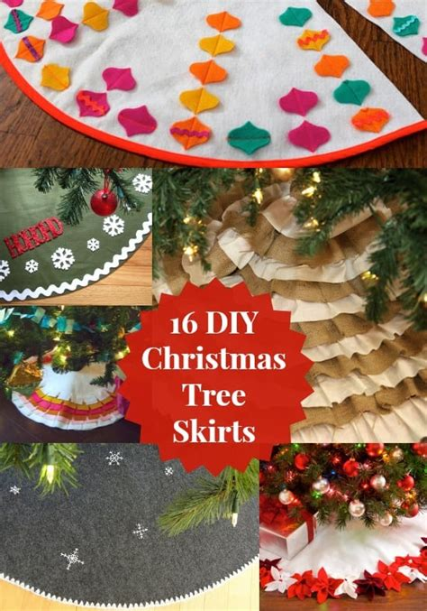 16 ways to make a christmas tree skirt diy candy
