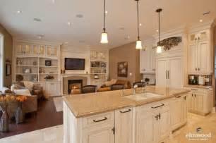 Kitchen Livingroom Open Concept Kitchen Living Room Home Design Idea