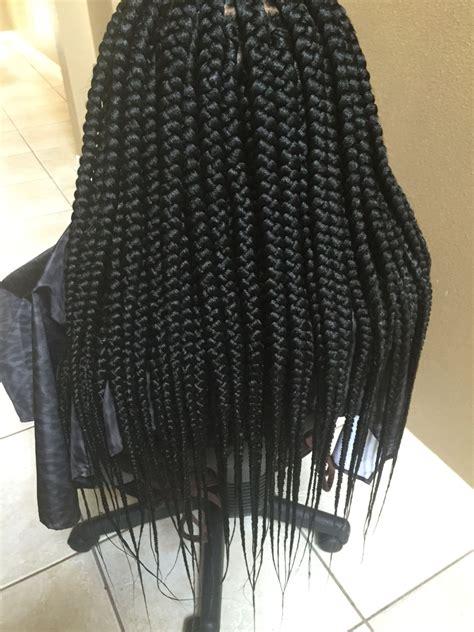 medium single braids styles medium box braids hair pinterest medium box braids
