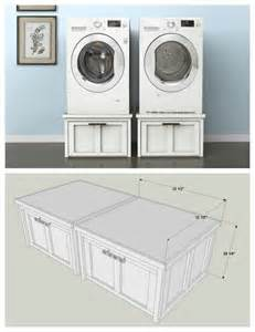 washing machine drawers diy washer and dryer pedestals with storage drawers