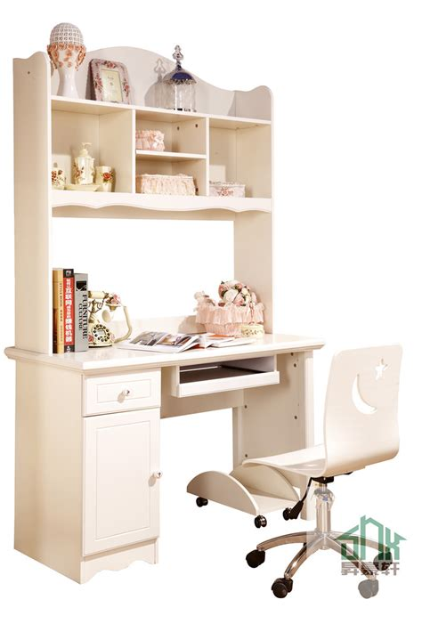 stylish children study desk ha a bookshelf design wooden