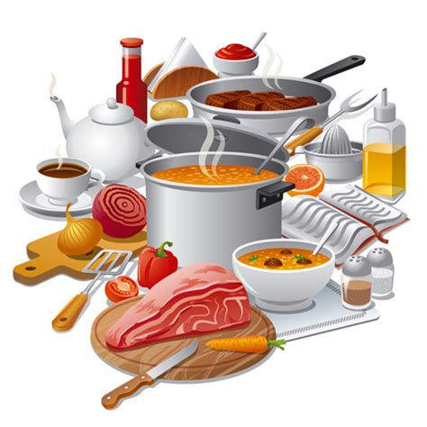 cuisine free cooking food design elements vectors 03 vector food free