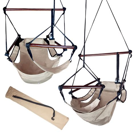 sky chair swing patio tree beige deluxe air hammock hanging sky swing