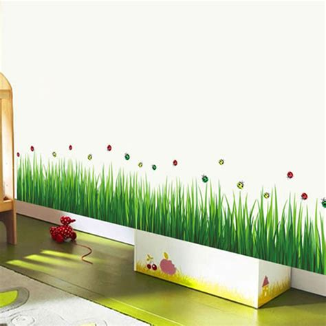 where to buy home decor removable green grass wall stickers home decor for kids