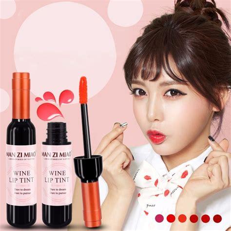 Make Up Kit Wine Lip Tint Zi Miao labiales con botella en forma de vino caja con 24 tintas