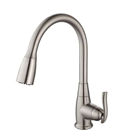 single handle high arc kitchen faucet kraus single handle stainless steel high arc pull
