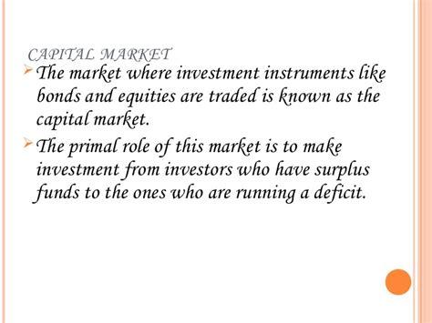 Capital Market Ppt For Mba capital market ppt