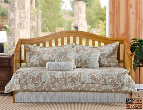 daybed comforter set sheffield beige taupe floral stripe daybed bedding