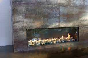 Floor to ceiling fireplace in living room modern