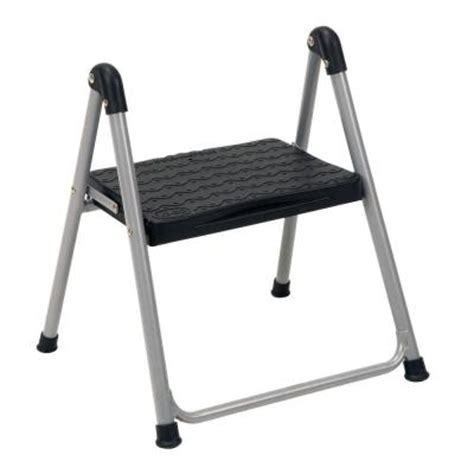 Home Depot Step Stool by Cosco 1 Step Steel Step Ladder Stool Without Handle 11014pbl1e The Home Depot
