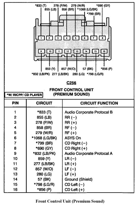 ford explorer sport trac stereo wiring diagram  wiring diagram