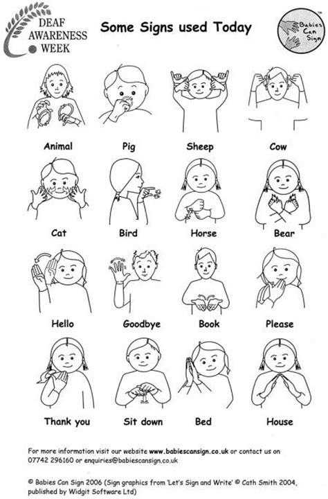 Sign Words printable sign language pictures images asl