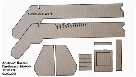 cardboard template american hacker cardboard shotgun template