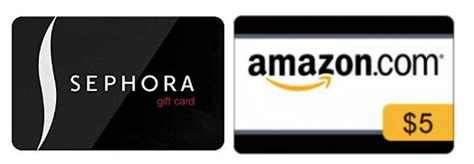 Sephora Free Gift Card - free amazon 5 gift card with sephora gift card purchase