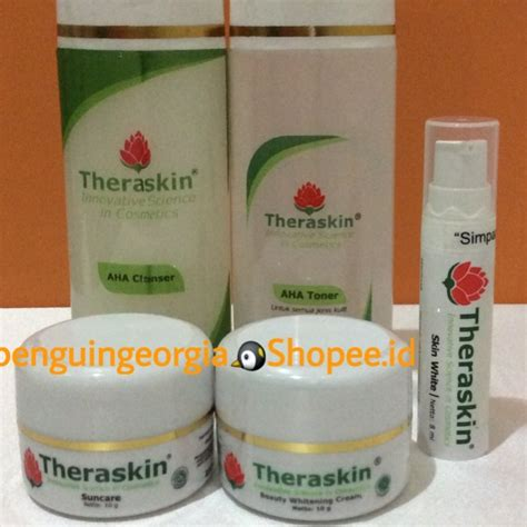 Serum Skin White Theraskin theraskin paket aha glowing bpom dgn serum skin white spf