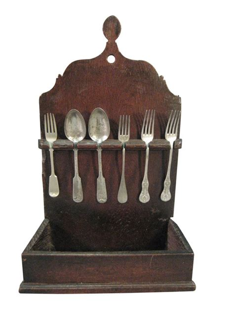 Silverware Rack by Rustic Oak Silverware Rack 19th Century Or Earlier
