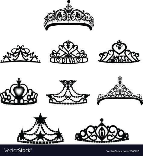 crown tiara royalty free vector image vectorstock