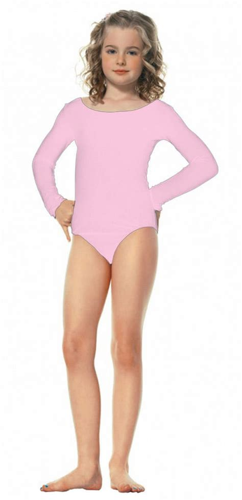 young girls in leotards pink girls long sleeve leotard costume craze