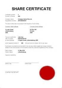 Share Certificate Template Uk Share Certificate