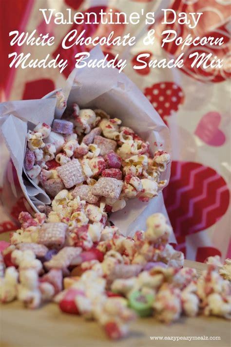 valentine s day popcorn snack mix