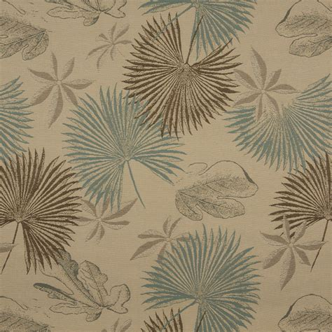 Teal And Brown Upholstery Fabric by Brown And Teal Floral Leaves Indoor Outdoor Upholstery