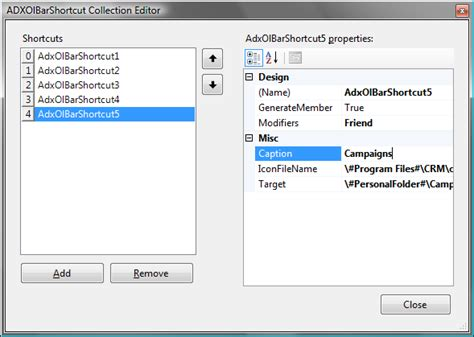 outlook 2007 template shortcut customize outlook navigation pane reading pane in c vb
