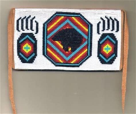 indian bead weaving patterns checkbook cover loom beadwork pattern american
