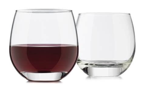 heavy wine glasses libbey 4 piece alyse stemless heavy base red wine glass