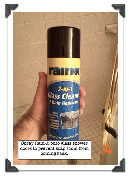 Rainx For Shower Doors How To Clean Soap Scum Shower Doors Use Rainx To Prevent More Soap Scum