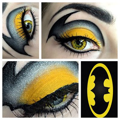 halloween hairstyles for batgirl comics inspired eye make up alldaychic