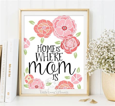 diy printable home decor mother s day print home is where mom is print wall art