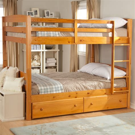 bunk bed with full size bottom ethan full over full bunk bed at hayneedle