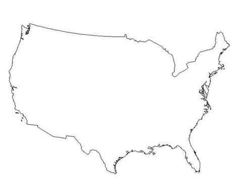 template of united states outline map of the united states of america clipart best