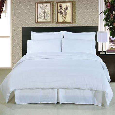 snow white 100 cotton plain style hotel motel bedding set