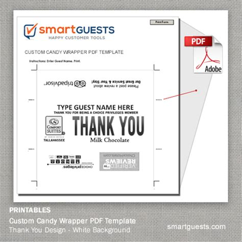 Printable Custom Candy Bar Wrapper Pdf Template Print At Hotel Personalized Wrapper Template Free