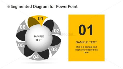 4 step segmented circular diagrams for powerpoint slidemodel circular diagram highlighting step slidemodel