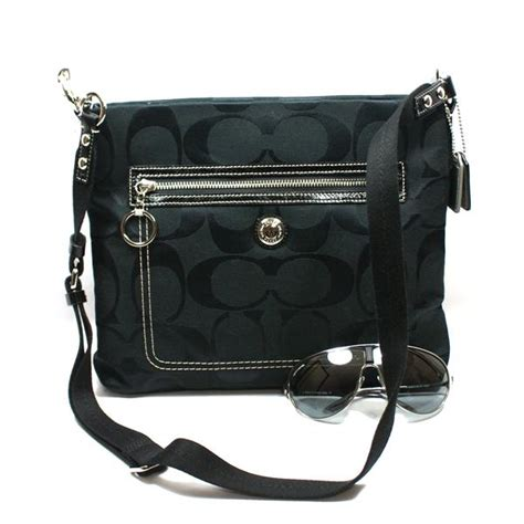 coach swing bag coach daisy signature swing crossbody bag black 14869