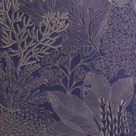coralline midnightgold wallpaper abigail borg surface