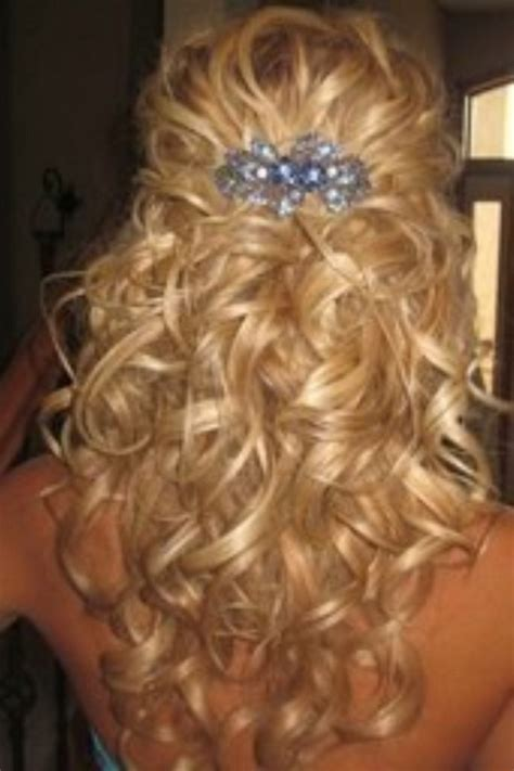 half up half down prom hairstyles pinterest prom hairstyles curly half up