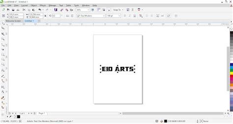 membuat outline text corel draw membuat text melengkung dengen coreldraw eio arts