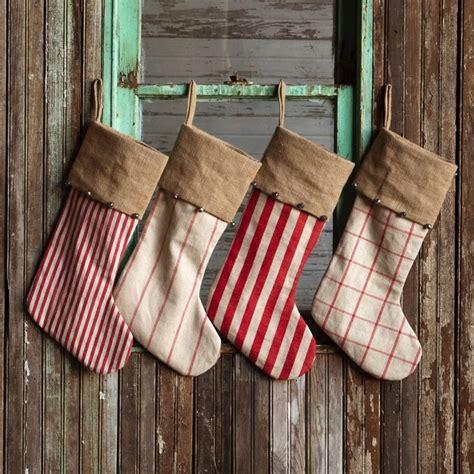 rustic christmas stockings set   antique farmhouse