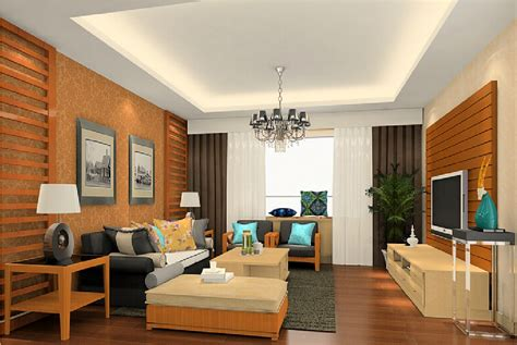 house interior walls design in american style 3d house