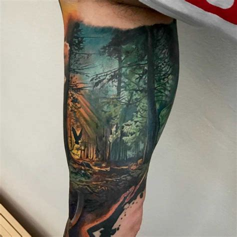 forest bicep tattoo  tattoo ideas gallery