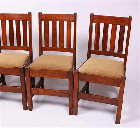 Mission Oak Dining Chairs Set Of 4 Mission Oak Dining Chairs C1910 California Historical Design