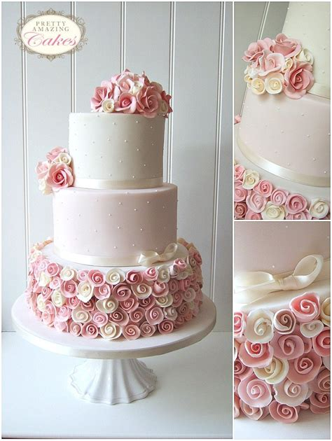 Hochzeitstorte Altrosa by Wedding Cakes Bristol Gloucester Bespoke Wedding Cakes