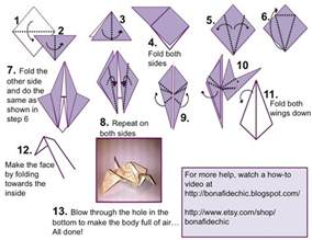 Folding Paper Cranes - how to fold an origami crane origami crane