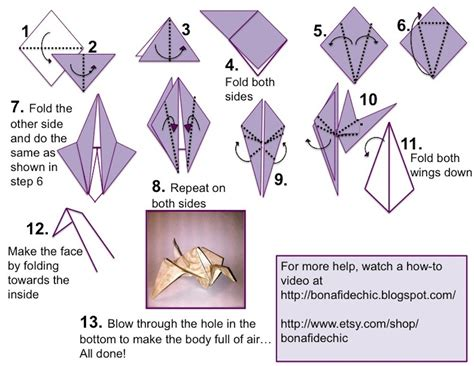 How To Do A Origami Crane - diy make your own origami paper cranes set of by