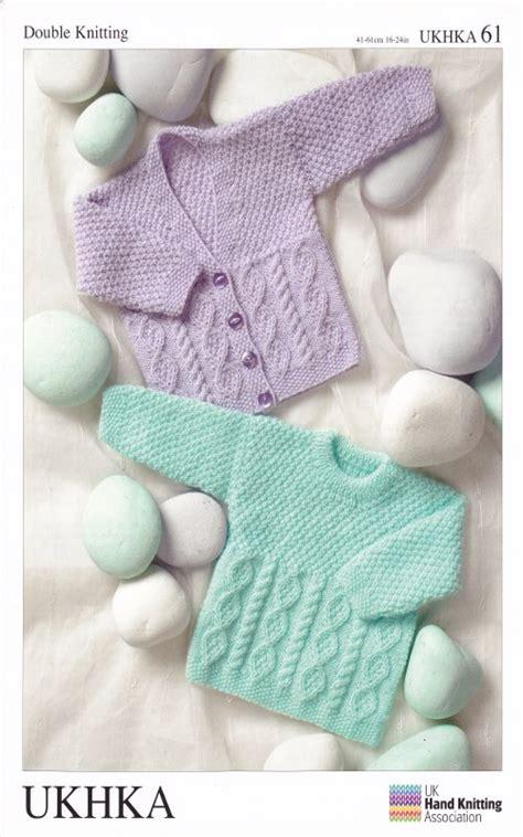 knitting pattern ukhka 73 double knitting pattern baby dk long sleeve cardigan